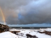 Rainbow and snow at Mill of Nethermill