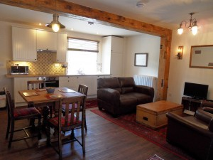 The Mill's open-plan kitchen and lounge